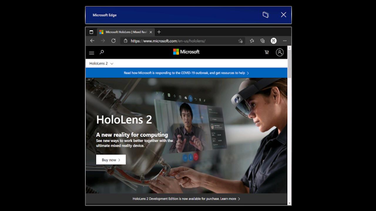 Microsoft Hololens 2预览版带来Microsoft Edge,滑动键盘– SlashGear