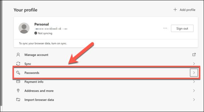 如何添加、编辑或删除 Microsoft Edge中保存的密码