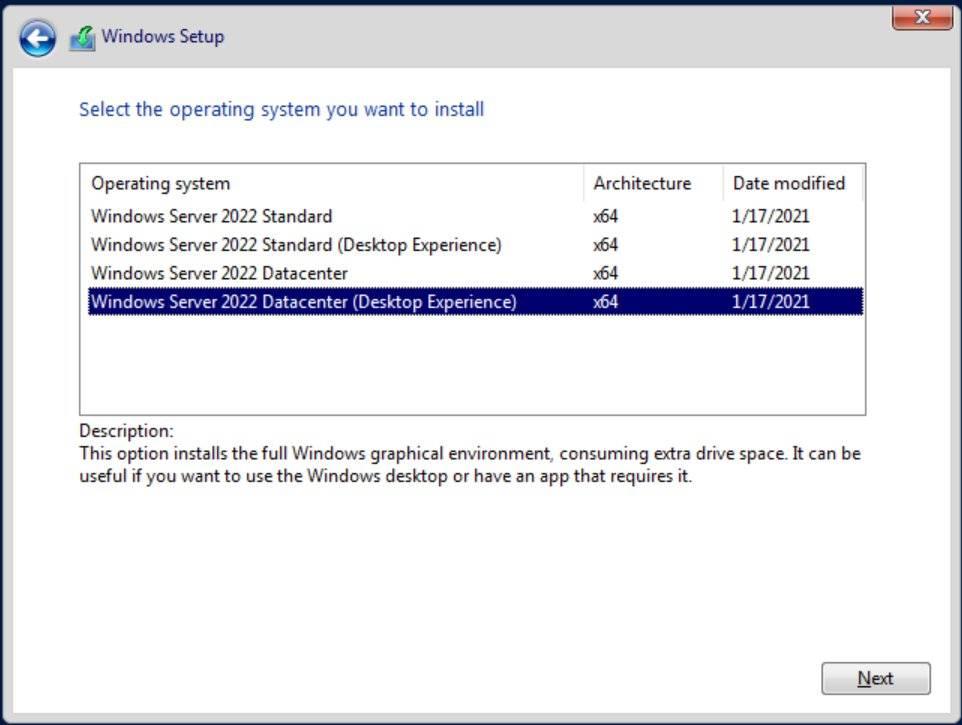 Server vNext现在正式是Windows Server 2022
