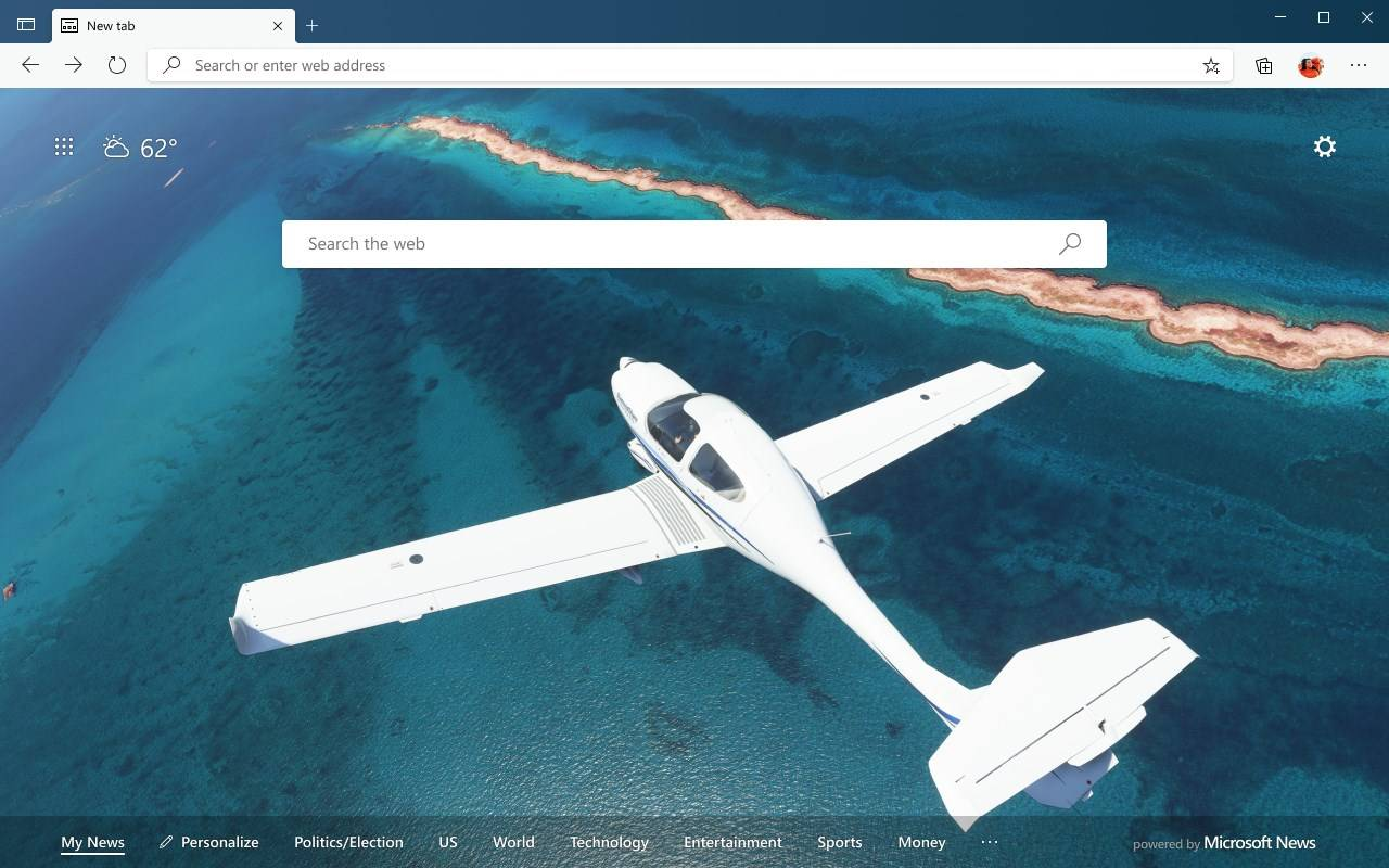Edge主题【Microsoft Flight Simulator – Ocean Flight】下载
